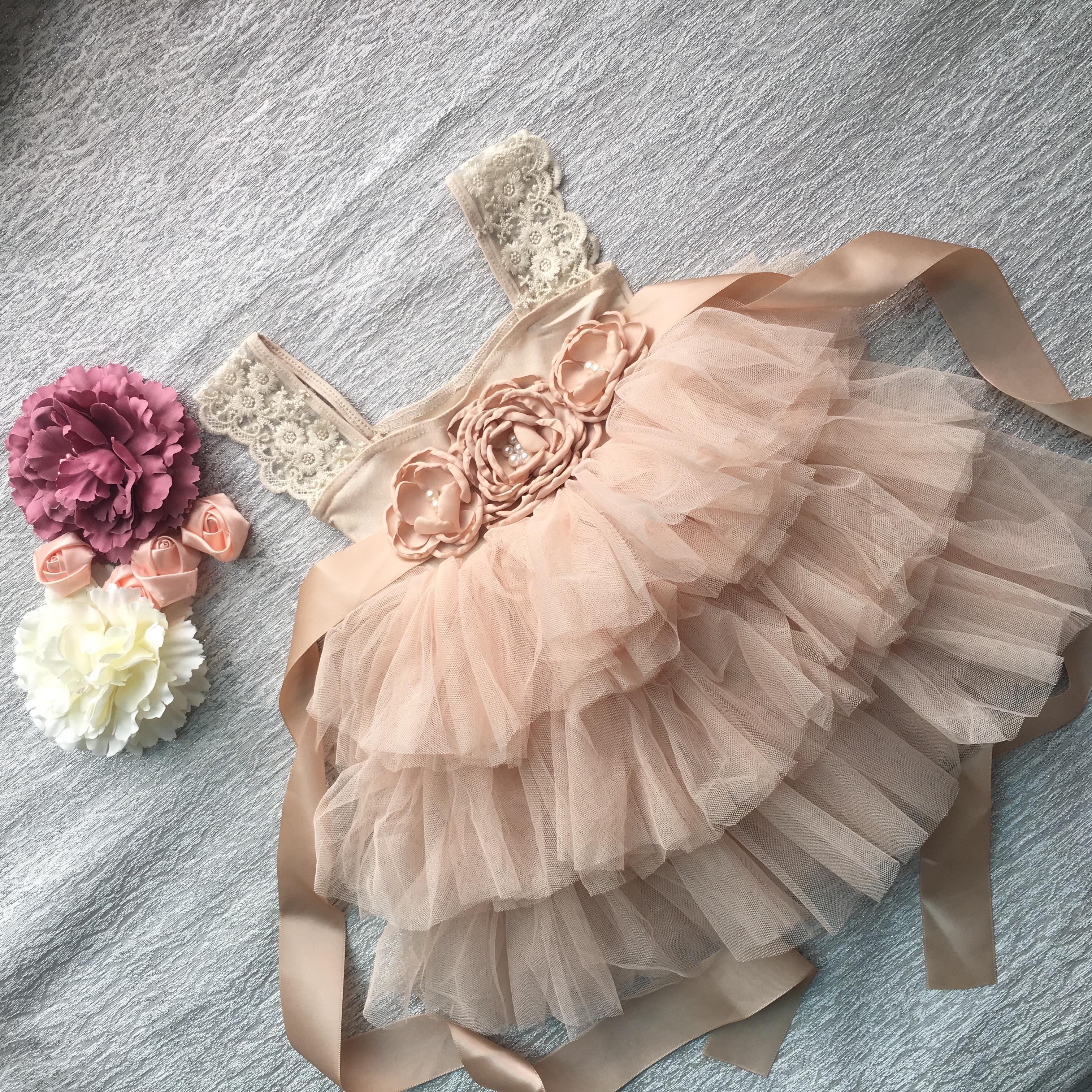 Retail Gorgeous Rhinestone Sashes Girl Evening Dress Baby Girl Lace Sling Princess Tutu Dress Kids Formal Costume 3