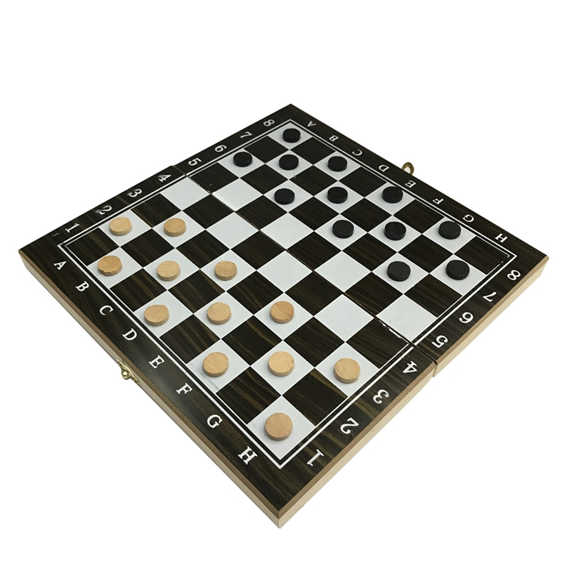 Jogo de Tabuleiro 3 em 1 Madeira Xadrez Damas Gamão Mod. 312300
