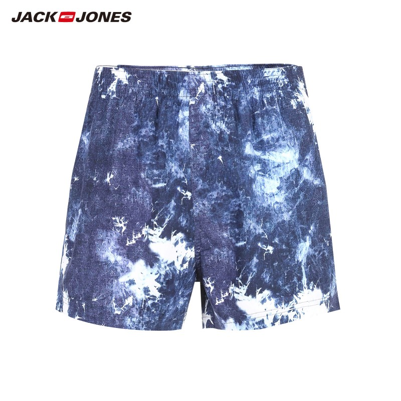 JackJones Men's 100% Cotton Beach Stretch Starry Sky Print Boxer Shorts| 219192514