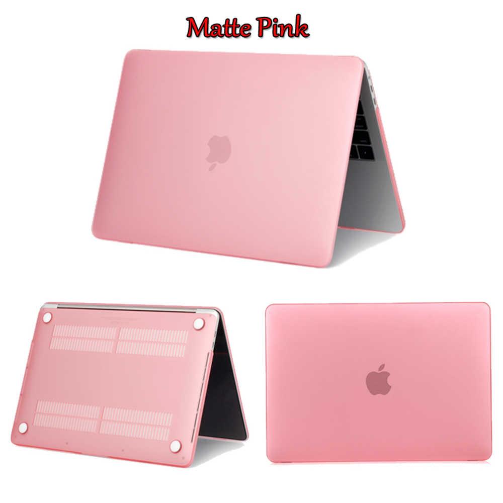 Nowa matowa matowa twarda obudowa pokrowiec na MacBook Air 11 A1465/air 13 cali A1466 pro 13.3 15 A1278 retina 13 A1502 A1932