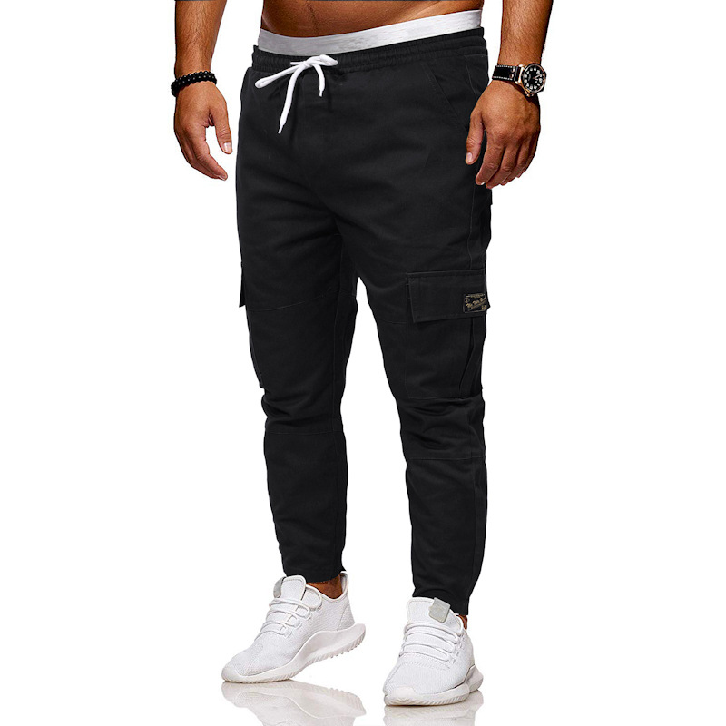 AliExpress MEN'S Wear Large Size Loose-Fit With Drawstring Elastic Girdle Casual Skinny Pants