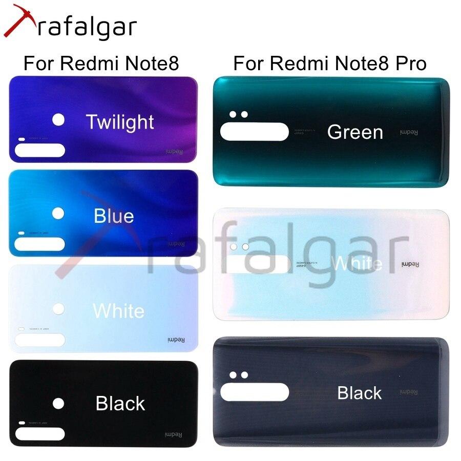 Nouveau verre arrière pour Xiaomi Redmi Note 8 Pro couvercle de batterie 8T boîtier de porte du boîtier arrière pour Redmi Note 8 Pro couvercle de batterie arrière