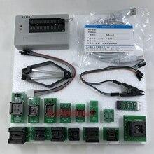 Программатор USB V10.27 XGecu TL866II Plus, программатор 15000 + IC SPI Flash NAND EEPROM MCU PIC AVR + 15 шт. адаптеров + зажим для проверки SOIC8