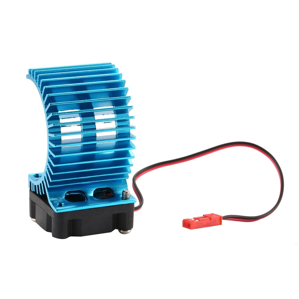 7014 Electric Dual Proof Cover Aluminum Motor Heat Sink With Cooling Fan for 1/10 HSP RC Car 5400/550 Motor Components