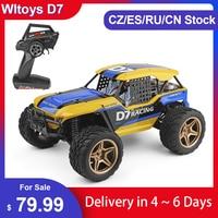 Wltoys XK 12402-A D7 4WD 2.4G RC Car Dessert Baja modelli di veicoli ad alta velocità 45 km/h telecomando modello di auto giocattolo fuoristrada