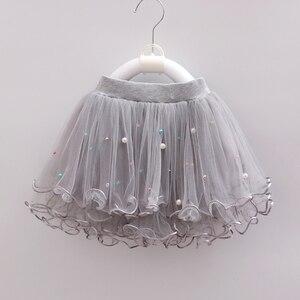 Детская юбка-пачка для девочек из шифона с бисероплетением 3 слоя, Юбки принцессы с юбкой из тюля; Вечерние танцевальные юбки для девочек осе...