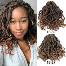 Faux Loc Crochet Hair 8 &18 inch 20 roots/pack Spring Twist Hair Natural Curly Dreadlocks Crochet Braid Hair