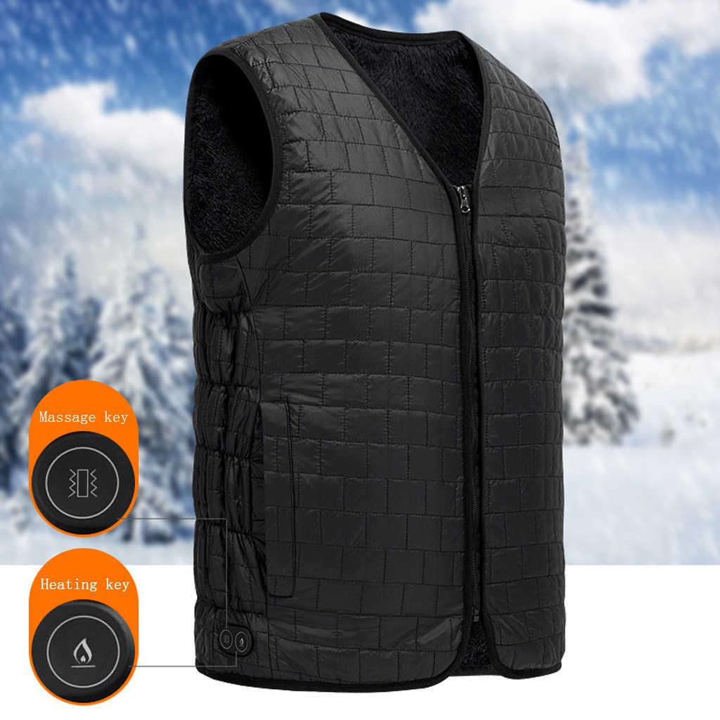الكهربائية سترة سترة الشتاء الدافئة التدفئة سترة قابل للغسل حجم قابل للتعديل USB قابلة للشحن التدفئة الملابس فيست أوم hiver 30N28