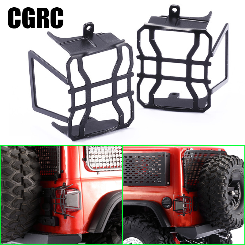 2pcs Metal of RC Taillights LED Shades for 1/10 Crawler Car AXIAL SCX10 III JEEP Wrangler Climber