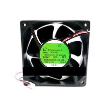 Double CNDC24B7 037 Durable de ventilateur de refroidissement de boule 24V 4.8W 12038 pour des pièces de réparation dinverseur Servo 2 ventilateur de refroidissement de remplacement de fils