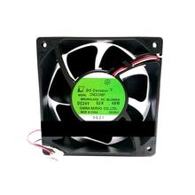 Trwała podwójna kula wentylator CNDC24B7 037 24V 4.8W 12038 dla Servo Inverter naprawa części 2 przewody wymiana wentylatora