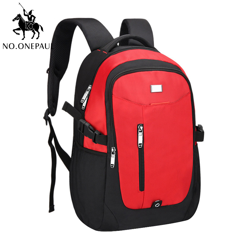 NO.ONEPAUL Travel Backpack Men Multifunction Bags With USB Charging Fashion Teenagers Laptop Backpack Women Bags Free Shipping