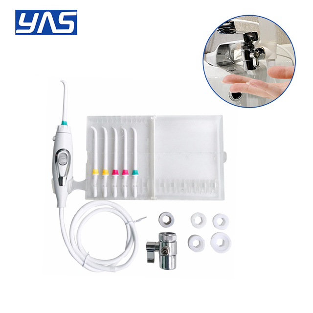 Faucet Water Dental Flosser 6pcs Nozzle Switch Jet Floss Toothbrush Irrigation SPA Teeth Tooth Cleaning