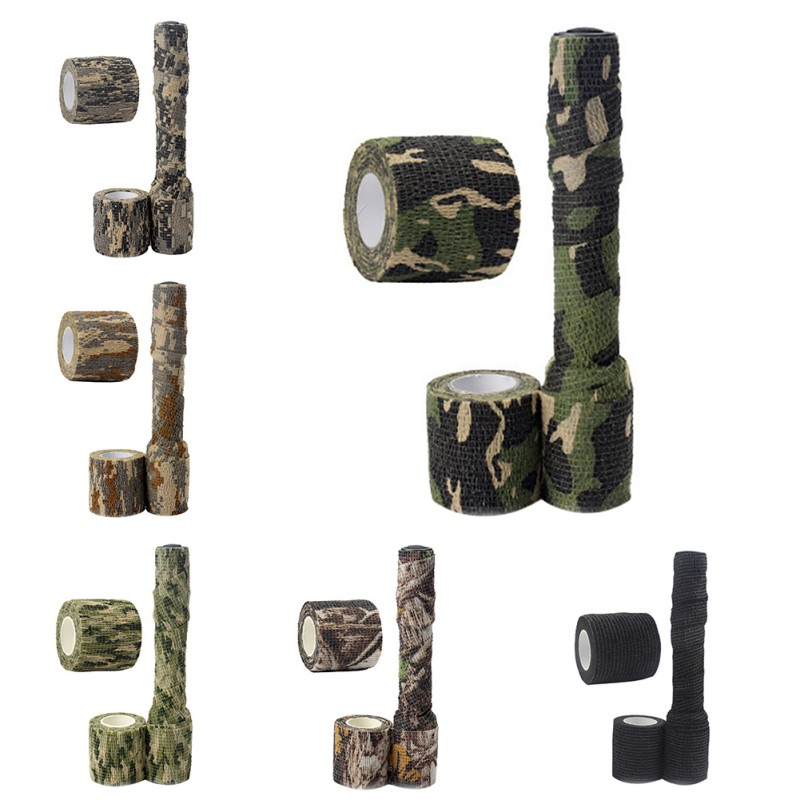 5cmx2.2m Army Camo Outdoor Hunting Shooting Blind Wrap Camouflage Stealth Tape Waterproof Wrap Durable title=
