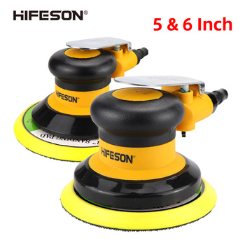 5'' 6'' inch Pneumatic Air Sander Polisher Tool Polishing Random Orbital Palm Machine Grinder for Car Paint Care rust removal jrealmer 2 inches pneumatic air polisher sander eccentric polishing machine pneumatic polisher tool