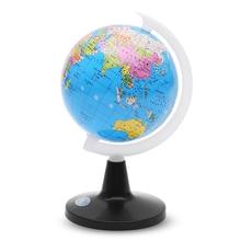 Маленький Глобус мира с подставкой, карта, обучающая игрушка для детей, глобус с этикетками на континентах, странах, столиц