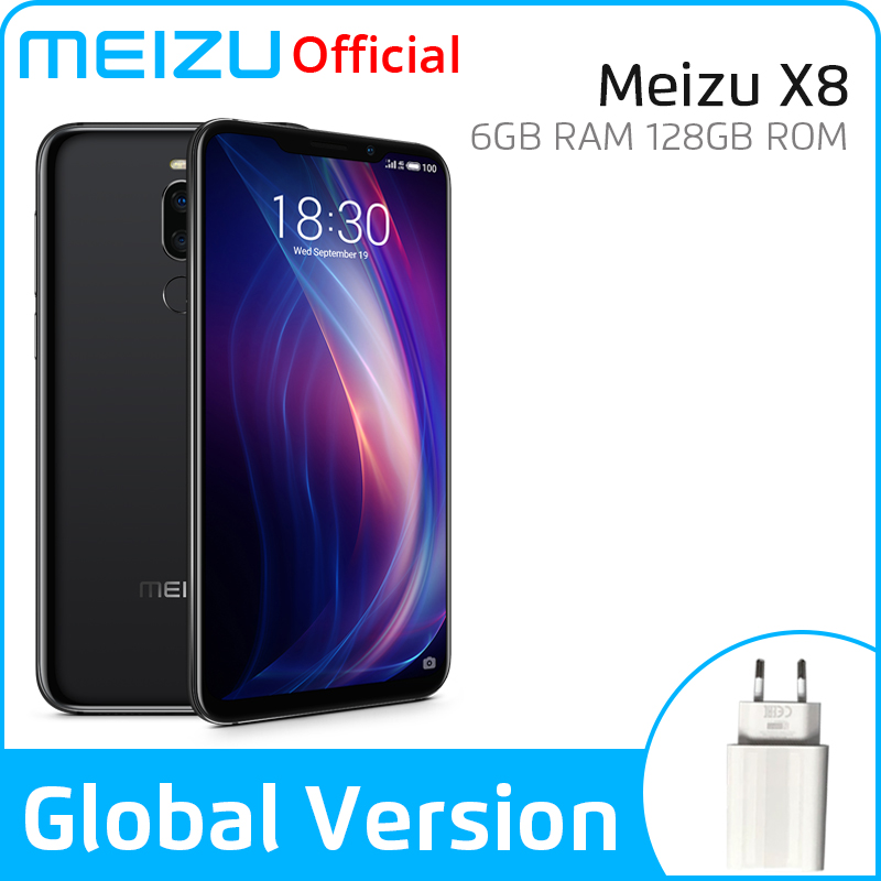Meizu X8 6GB 128GB Global Version Mobile Phone Snapdragon 710 Octa Core Android Phone Dual Rear Camera Face Recognition
