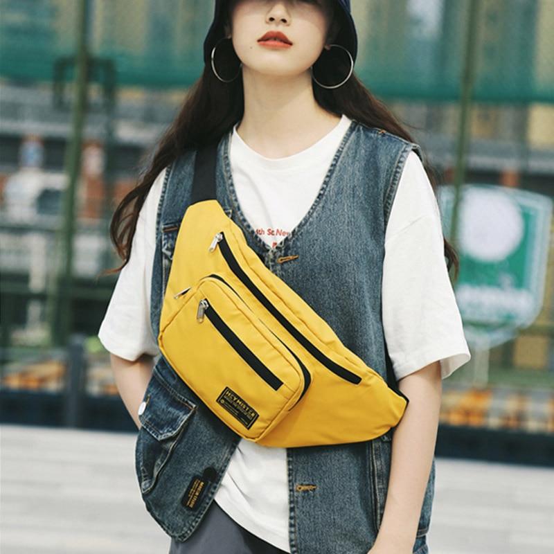 Unisex Fanny Pack Waist Bag Trend Hip Hop Packs Chest Bags Female Large Capacity Banana Bag Street Style Waist Pack Bum Package
