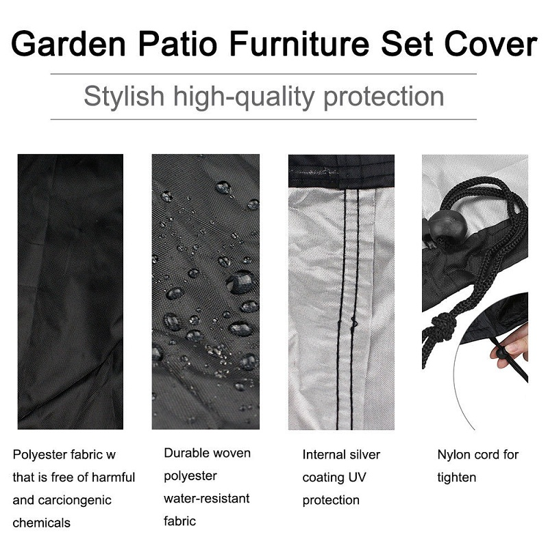 BBQ Cover Outdoor Dust Waterproof Weber Heavy Duty Grill Cover Rain Protective outdoor Barbecue cover round bbq grill black 3
