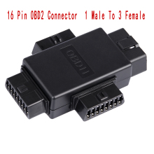 16 Pin OBD2 Автомобильная Соединительная заглушка 1 штекер до 3 Женский ELM327 многофункциональный разъем диагностические кабели инструмент автомобильный Соединительный адаптер