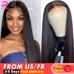 Парик на сетке TIANTAI, 28 дюймов, парик на сетке 4x4, парик на сетке из человеческих волос, парики на сетке, Длинные прямые парики для женщин, брази...