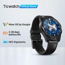 Смарт-часы TicWatch Pro S, 1 ГБ ОЗУ, двойной дисплей, IP68, водонепроницаемые часы, NFC, отслеживание сна, мужские часы с пульсометром, 24 часа