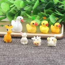 10pcs/lot Cartoon Animals Flat back Resin Cabochon duck Flatback Cabochons for Kids Hair Bows Scrapbooking Decoration(China)