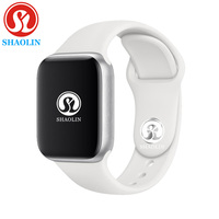 Alarm clock Smart Watch Series 4 Heartrate Pedometor 42mm On Wrist smartwatch 1:1 for ios apple iPhone & Android Samsung phone