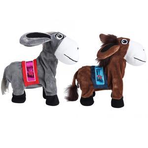 Mascotas juguetes de felpa electrónicos, burro que canta y baila, burro que sacude la cabeza, burro para niños, mascotas de juguete, regalos de 23cm