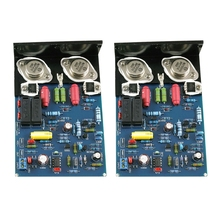 1 Pair QUAD405 Amplifier Board MJ15024 100W 8R Dual Channel Amplifier Board with Angle Aluminum Finished Baord
