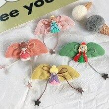 Korean  Angle Wings Princess Cute Kids Children Girls Fall Winter BB Hairpins Hair clips Head wear Hair Accessories-SWC5-W5 цена и фото