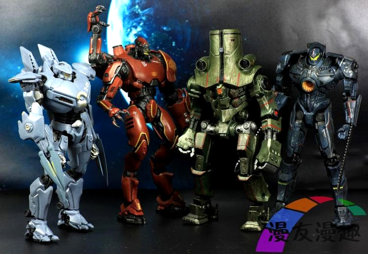 Hot Sale  Of NECA Pacific Rim A Cool Toy Japanese Machine Tango Wolf Knife Head Beast Pacific Robot  Moveable  Model