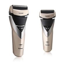 2020 New kemei Shaver Rechargeable Electric washable electric razor men shaving machine 3D beard trimmer face care стоимость