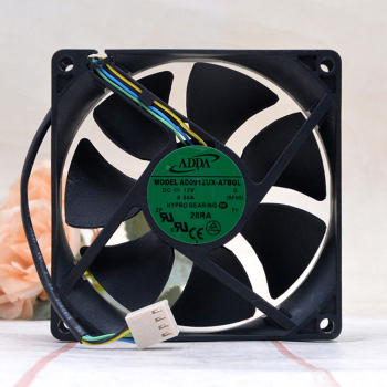 brand new FOR ADDA AD0912UX-A7BGL New 92mm 90mm PWM 12V FAN  9225 3900RPM 50CFM CPU cooling fan