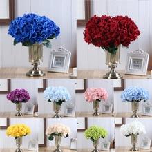 5 Heads Artificial Flower Bouquet Simulation Hydrangea Fake Wedding Party Decorations Home Garen Decor