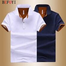 Camicia di Polo degli uomini di Estate Deer Stampa Manica Corta Streetwear Plus Size Magliette E Camicette Cotone Degli Uomini di Sport di Polo di Modo Casual Golf Camicette