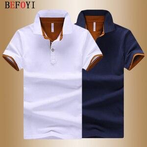 Image 1 - Men Polo Shirt Summer Deer Print Short Sleeve Polos Fashion Streetwear Plus Size Tops Men Cotton Sports Casual Golf Shirts