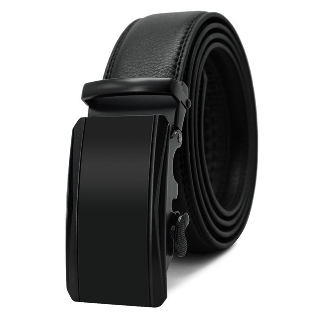 Designer Automatic Buckle Cowhide Leather Luxury Belt 3