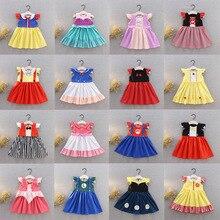 Disney çocuklar kızlar için elbiseler prenses elbise noel partisi çocuk giyim doğum günü yay çiçek karikatür zarif yaz
