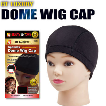 Qp Hair Spandex Dome Cap For Wig Cap 1pcs Snood Nylon Strech Hairnets Wig Caps For Making Wigs Glueless Hair Net Wig Liner image