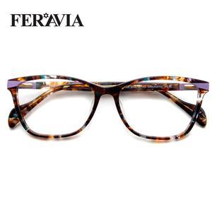 Image 2 - Nieuwe Vlinder Bril Vierkant Frame Modieuze Bril Frame Mooie Print Eyewear Voor Vrouw FVG7138