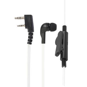 2Pin Earpiece Headset PTT w/Mic Earhook Interphone for Baofeng UV5R/KENWOOD Professional Walkie Talkie Parts Accessories 1