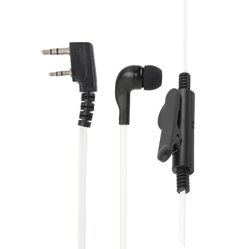 2Pin Earpiece Headset PTT W/Mic Earhook Interphone For Baofeng UV5R/KENWOOD Professional Walkie Talkie Parts Accessories