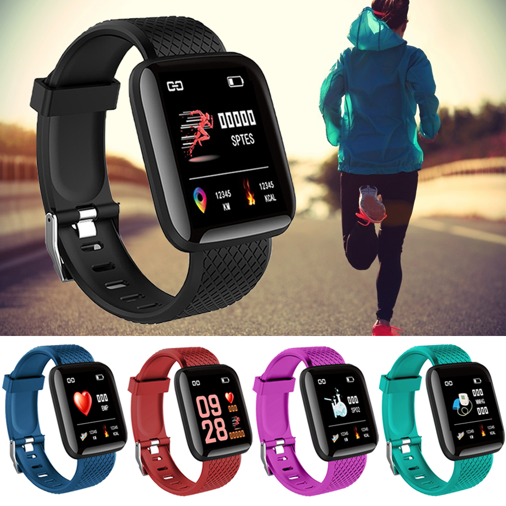 Running Waterproof Pedometer Step Counter Health Wristband Sports Bracelet For Fitness Activity Heart Rate Tracker