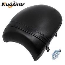 Nuoxintr Motorcycle Black Rear Passenger Racer Seat Cushion Retro leather for Victory Boardwalk Judge Vegas Highball Gunner