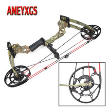 KAIMEI 270 Archery 40-60lbs Compound Bow 310FPS Arrow Steel Ball Dual Purpose 80% Labor Saving Ratio For Hunting Shooting