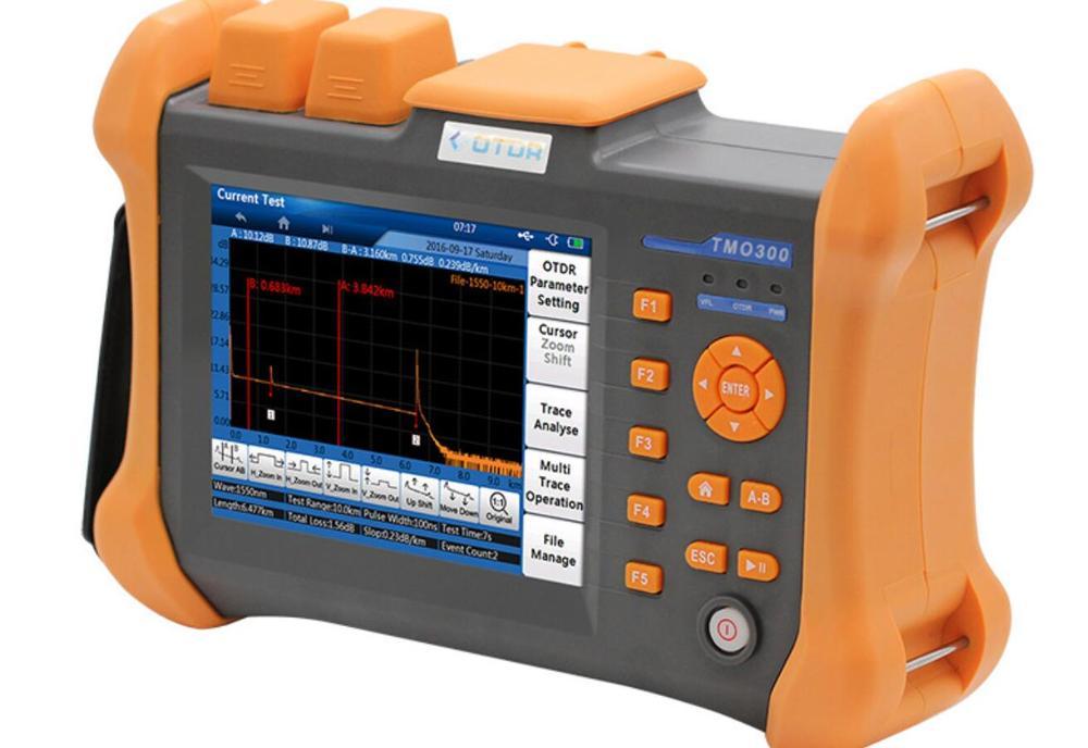 OTDR Handheld 32 TMO-300-SM-A/30dB 1310/1550nm SM FTTH Integrado embutido 10mW VFL Fibra Óptica Tela de Toque ferramentas de teste