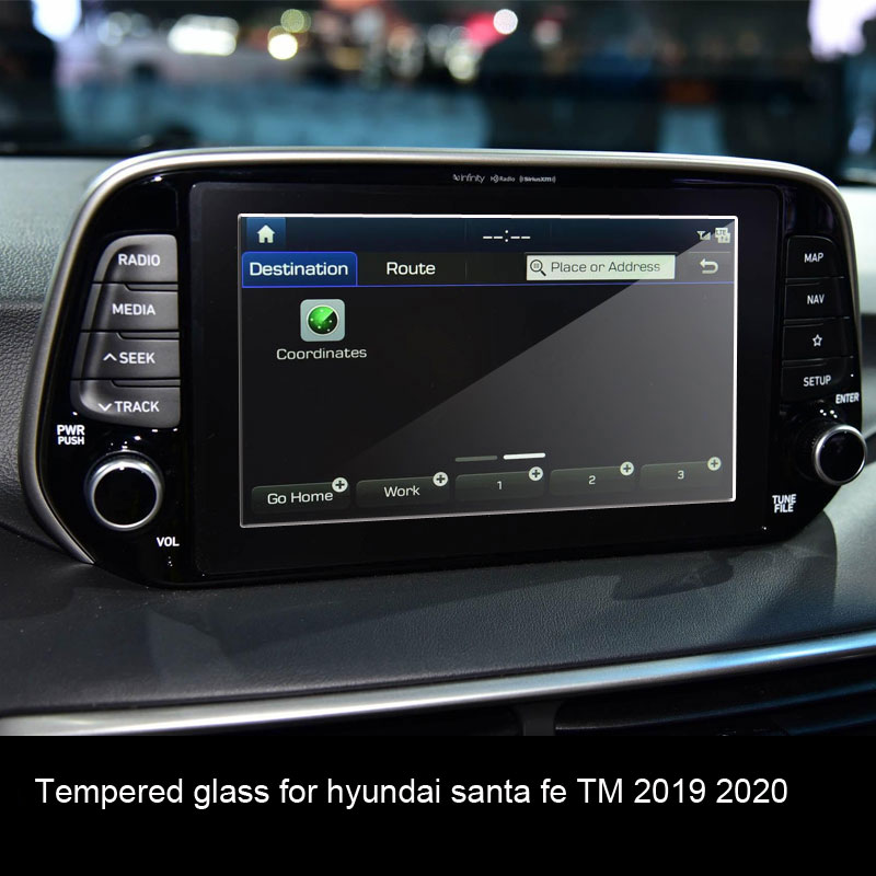 Car Navigtion Tempered Glass LCD Screen Protective Film Sticker Dashboard Guard For hyundai <font><b>santa</b></font> <font><b>fe</b></font> <font><b>TM</b></font> <font><b>2019</b></font> 2020 image