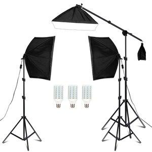 Image 2 - צילום סטודיו Softbox תאורת ערכת זרוע עבור וידאו & YouTube רציף תאורה מקצועי תאורה סט תמונה סטודיו
