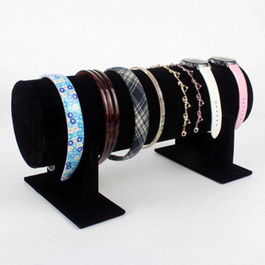 Velvet T-Bar Headband Holder Retail Shop Jewelry Display Stand Rack